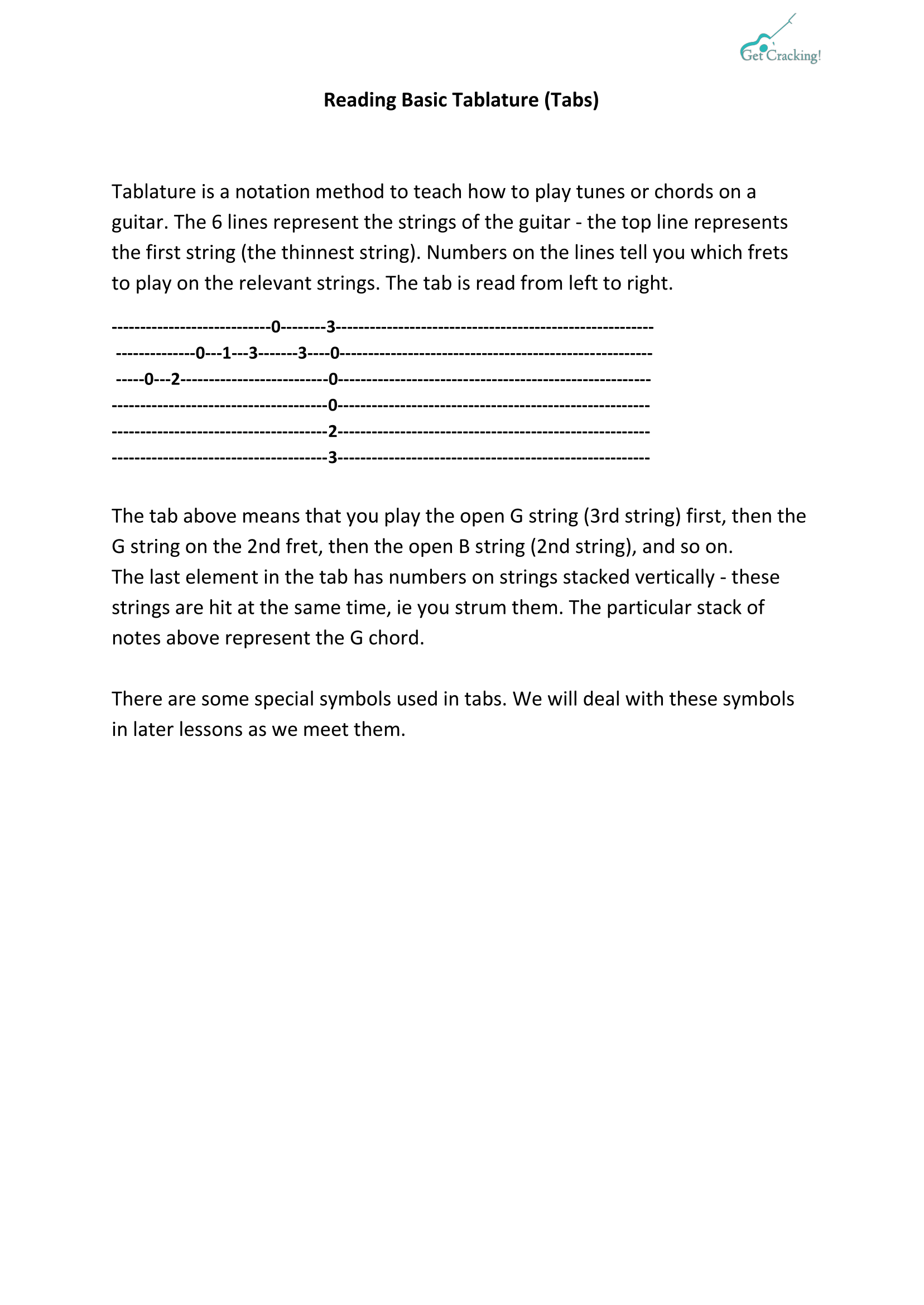 Reading Basic Tablature-1