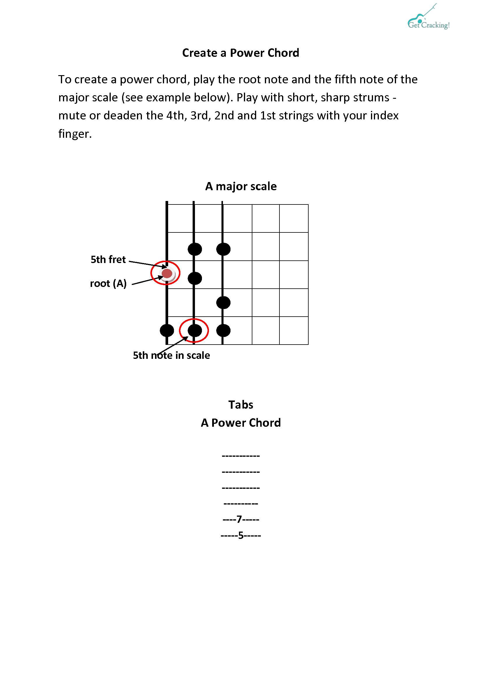 create a power chord