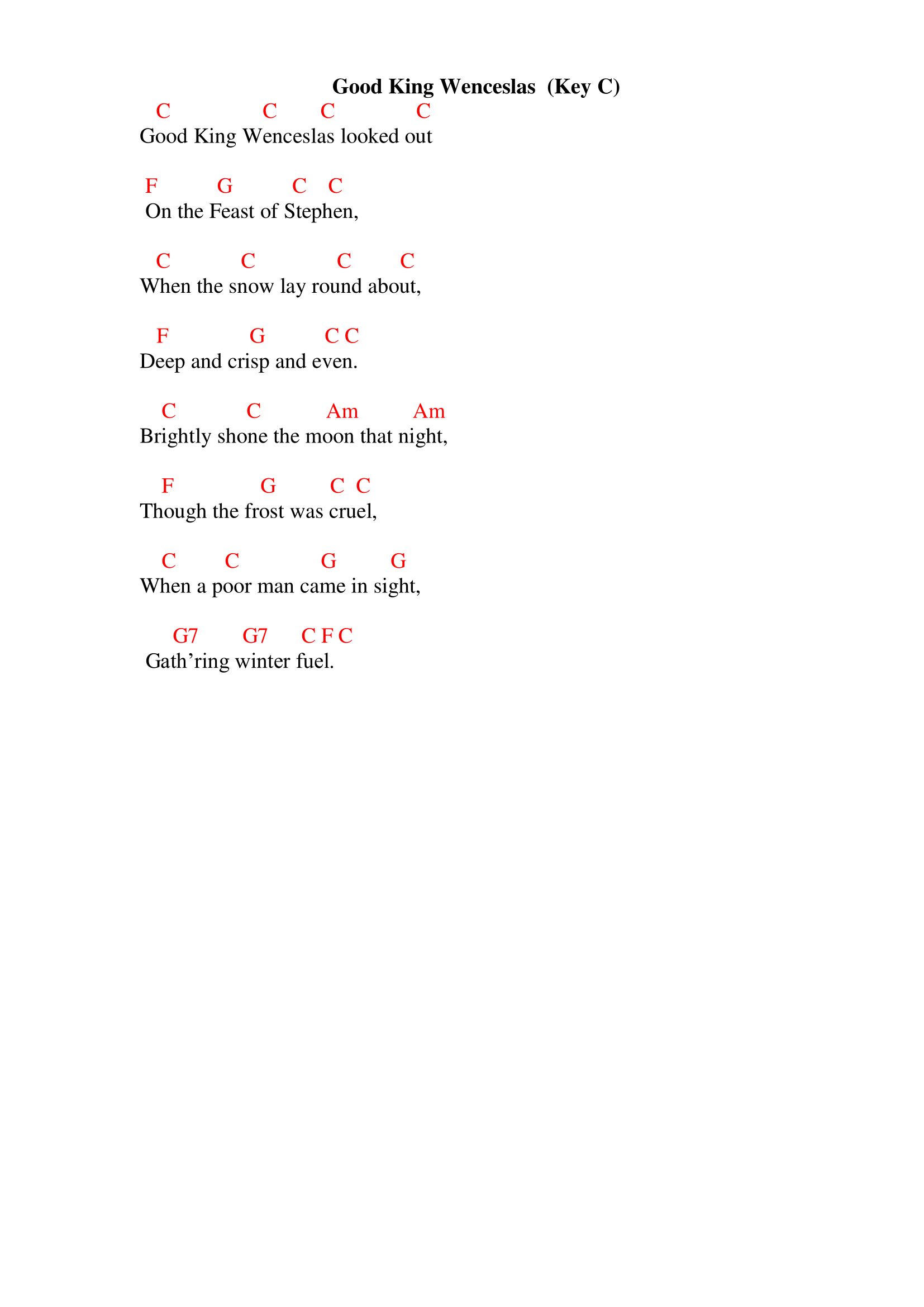 good-king-wenceslas-lyrics-chords